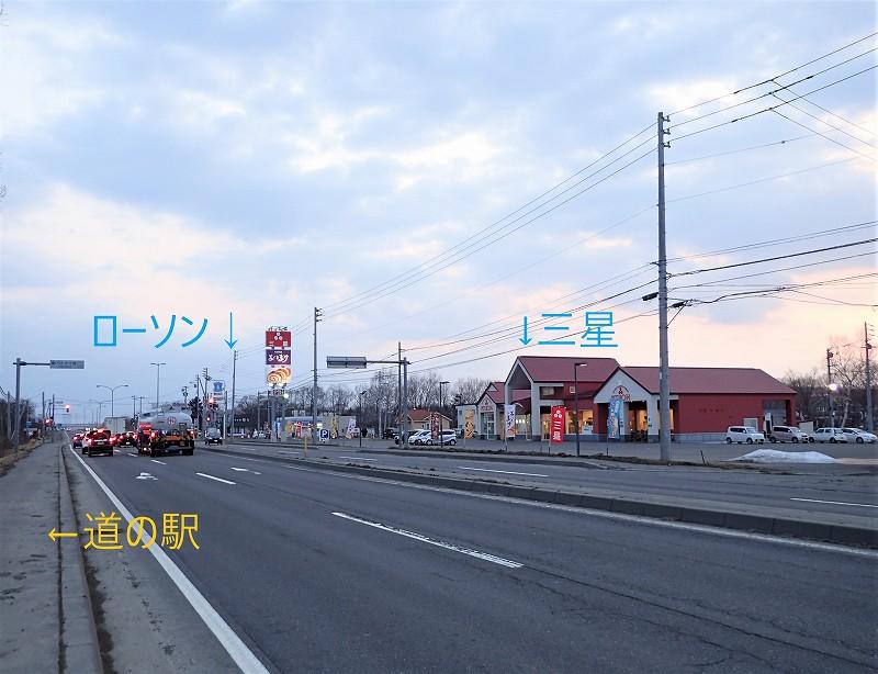 道の駅_ウトナイ湖_道路向かいのコンビニなど